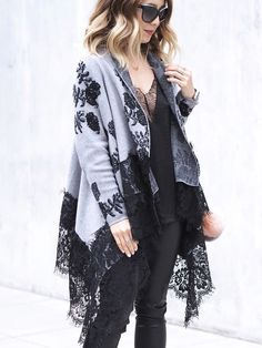 This oversized cardigan stays feminine with all of