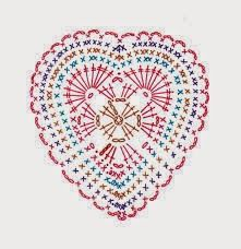 VÁLOGATOTT HORGOLÁSLEÍRÁSOK Knitted Heart Pattern, Granny Square Crochet Pattern, Crochet Diagram, Freeform Crochet, Thread Crochet, Crochet Motif, Crochet Doilies, Crochet Butterfly, Crochet Flower Patterns