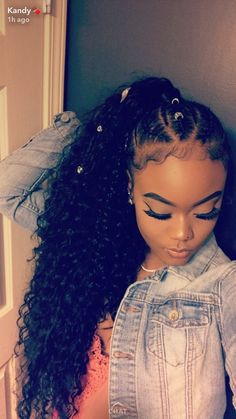 Cute Hairstyles For Black Girls Interesting Pinterest Awkomycheerio ❃  Hairhair Hair  Pinterest  Curly