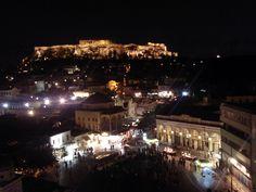 Athens- Monastiraki Square by night