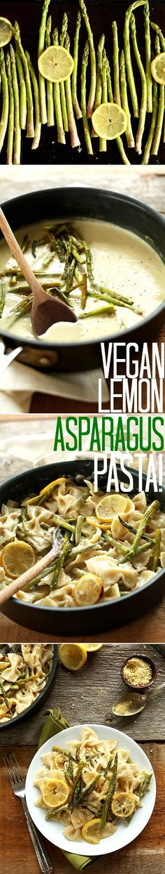 VEGAN Creamy Lemon Asparagus Pasta! 9 ingredients, 30 minutes, LOADED with veggies! #healthy #vegan | minimalistbaker.com