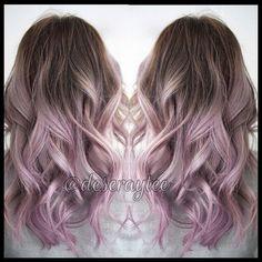Metallic rose * Purple * Balayage
