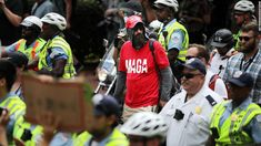 Approximately two dozen white nationalists rallied in the nation's capital on Sunday, one year after clashes in Charlottesville, Virginia, left one person dead and elevated racial tensions in America.