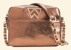 Kelly Wynne Mingle Mingle Mini in Embossed Geo Bronze