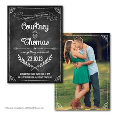 100 Chalkboard Save the Date X printed full color both sides - blank white envelopes (Qty. Save The Date Templates, Wedding Templates, Wedding Invitation Templates, Wedding Invitations, Save The Date Inspiration, Starry Wedding, Photo Invitations, Invites, Photography Templates