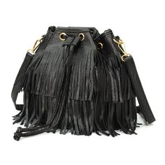 2016 Women Fringe Bags Tassel Shoulder Corssboby Bucket Bag Popular Leather Messenger String New Fashion Style Solid Colors