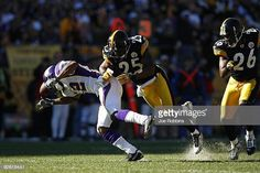 d8b4e30b7 Percy Harvin of the Minnesota Vikings gets knocked down while trying to  catch a pass against