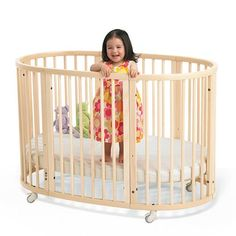 stokke, the most innovative baby products the crib changes from bassinet, to crib, to toddler bed, junior bed and then 2 chairs
