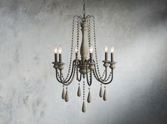 Shop for contemporary chandelier lighting at Arhaus. Our unique chandeliers are a perfect way to brighten up your living or dining room. Farmhouse Decor, Chic Lighting, Rustic Pendant Lighting, Vintage Bathrooms, Arhaus, Chandelier Design, Chandelier, Timeless Furniture, Country Chandelier