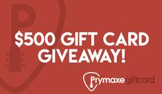 Enter to win a $500 Prymaxe Digital Gift Card! Worldwide giveaway! #sweepstakes