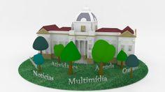 Site sustentabilidade do Tribunal de Justiça. #3dsmax