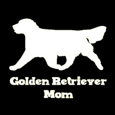 Golden Retriever Mom Vinyl Car Window Decal