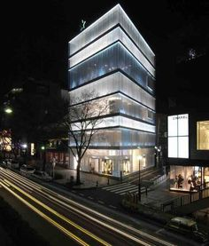 Omotesando street in Tokyo .  Known for its architecture.