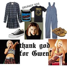 Gwen saved us from Grunge! Awkward fashion moment, created by #abbymaries on #polyvore.