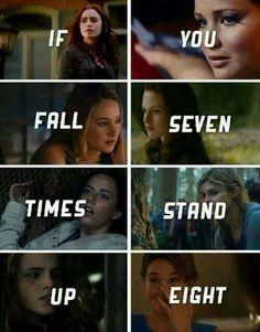 Katniss Everdeen, Tris, Bella Swan,Hermione Granger, Hazel Grace and Teresa ♡ :))