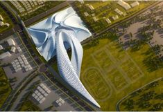 Elk Grove by Zaha Hadid is a large-scale architectural project that will surely put this small city on the map—and with quite the topographical appendage if I may say so! via Amelia Roblin