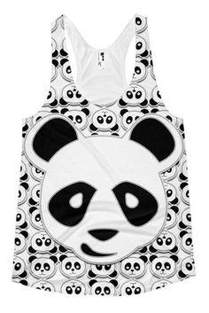 02f993281cc85 Panda Print Racerback Tank Top • COSMOTEE • Tictail Printed Tank Tops