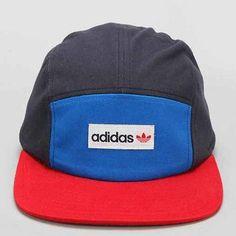53246ae9935f2 adidas Originals Odd 5-Panel Hat- Blue Multi One Adidas Hat