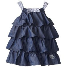 Black Friday Calvin Klein Girls Tiered Chambray Dress with Printed Contrast Straps, Dark Blue, from Calvin Klein Cyber Monday Kids Outfits Girls, Girl Outfits, Girls Dresses, Toddler Fashion, Kids Fashion, Amazon Dresses, Chambray Dress, Everyday Dresses, Fashion Sewing