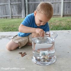 how many pennies we could get inside the jar in one minuteMinute-to-Win-It Family Game Challenges