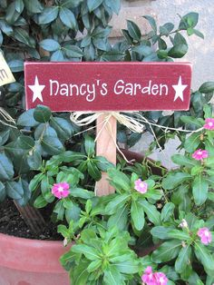 Personalized Wooden Garden Stake Rectangle By SaltboxHouseSigns, $12.00