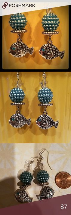 HANDCRAFTED SWAVORSKI CRYSTAL Stars,n fishes eyes HANDCRAFTED BY ME WITH TONS OF LOVE AND SWAVORSKI CRYSTAL Stars, double sided silver fish with CRYSTAL on each side ❣💕 ALWAYS MADE OF HIGH QUALITY BEADS AND MATERIALS ❣💕 #1OFAKINDDESIGNS ❣💕 MY OWN Jewelry Earrings