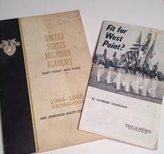 West Point US Military Academy NY 1964 1965 Vintage Books Catalog USMA Fitness Test by aroundtheclock on Etsy