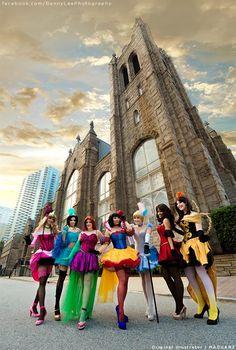 Burlesque Disney princesses cosplay.