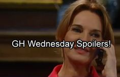 New General Hospital (GH) spoilers for the Wednesday, August 24 episode tease…