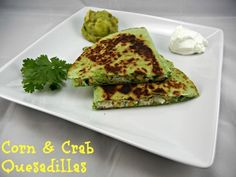 Corn and Crab Quesadillas. 30 Minute Meal. Recipe on www.thetastyfork.com #BackToSchoolWeek