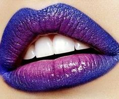 This intense violet ombre is a must try!