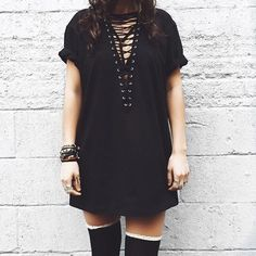 LF LACE UP BOYFRIEND T-SHIRT/DRESS NWT NEVER WORN LF LACE UP BOYFRIEND T-SHIRT/DRESS NWT NEVER WORN. Can be styled soooo many ways! SOLD OUT EVERYWHERE! LF Tops