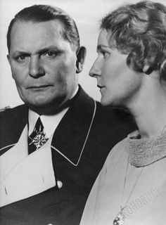 Hermann Göring with his wife, Emmy. She got one year in jail! Justice German style!