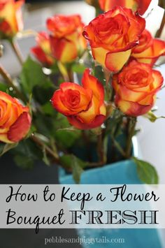Great tips to keeping your flowers fresh!
