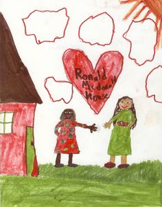 Drawing created by Malin (age 10) of Edmunds Elementary School in Burlington.