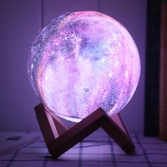 DecBest New Printing Moon Lamp Space LED Night Light Remote Control USB Charge Valentine Giftis Diversiform-NewChic Mobile Room Ideas Bedroom, Bedroom Themes, Bedroom Decor, Galaxy Bedroom Ideas, 3d Light, Magic Light, Light Touch, Magical Jewelry, Cute Room Decor