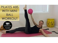 Pilates ABS with Mini Ball Workout - YouTube