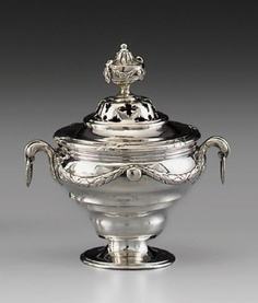 A SILVER SMALL COVERED PERFUME-BURNER, FRANZ PETER BUNSEN, HANOVER, 1770-1777