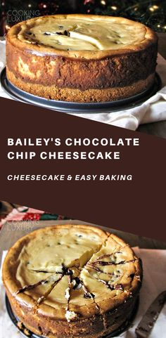 This cheesecake is one of my all-time favorite desserts, and every bite tastes like Christmas to me. It's super rich, creamy, and the Bailey's flavor makes it totally addictive. #food #recipes #easyrecipe #cheesecake #cake #cakerecipes #baking #desserts #dessertfoodrecipes #dessertrecipes #frosting #sweets #glutenfree #glutenfreerecipes #chocolate