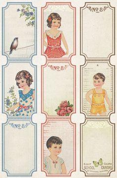 Vintage printable cards