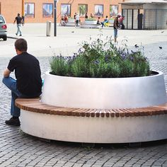 BEP1216 HWEP Groene Cirkel banken Den Bosch_Mobile Circular Bench with Tree Planter