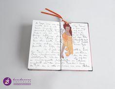 Punto de libro ilustrado TAHITÍ / marcapáginas mujer por beacbarros