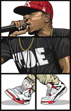 Kendrick Lamar on Behance Arte Do Hip Hop, Hip Hop Art, Dope Cartoons, Dope Cartoon Art, Arte Dope, Dope Art, Arte Cholo, Hip Hop Quotes, Illustrator
