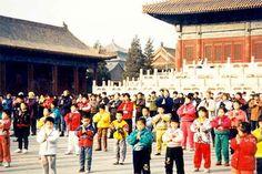 Practicing Group Falun Gong Exercises in Beijing in 1992 and 1993 | Falun Dafa - Minghui.org