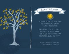 items similar to family reunion invitation on etsy
