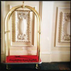 #Buddha #Bar #Hotel details: a #writing #pad, a #luggage #trolley, a Bang & Olufsen remote control