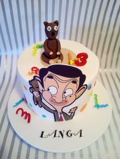 Mr Bean Cake Mr Bean Cake, Bean Cakes, Mr Bean Birthday, Happy Birthday Cakes, Baby Boy Cakes, Cakes For Boys, Ms Bean, Mr Bean Cartoon, Rugby Cake