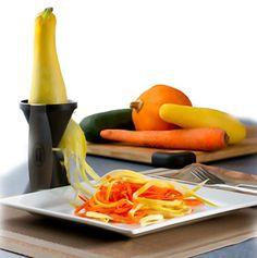 Spiral Vegetable Slicer from Loopy Apple http://www.amazon.com/Loopy-Apple-Spiral-Slicer-Vegetables/dp/B00MQT8JV0/ie=UTF8?m=A1NL370HFPBK17&keywords=spiral+slicer+vegetable+zucchini+yellow+spirooli+potato+veggie+raw+food+veg