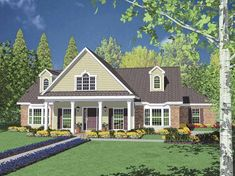 Floor Plan AFLFPW26442 - 2 Story Home Design with 3 BRs and 2 Baths