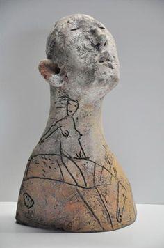 MIKE MORAN – ceramic figurative sculpture – Sculpturesite Gallery Source by Sculpture Head, Sculptures Céramiques, Ceramic Sculptures, Ceramic Figures, Ceramic Art, Ceramics Projects, Paperclay, Contemporary Ceramics, Art Plastique